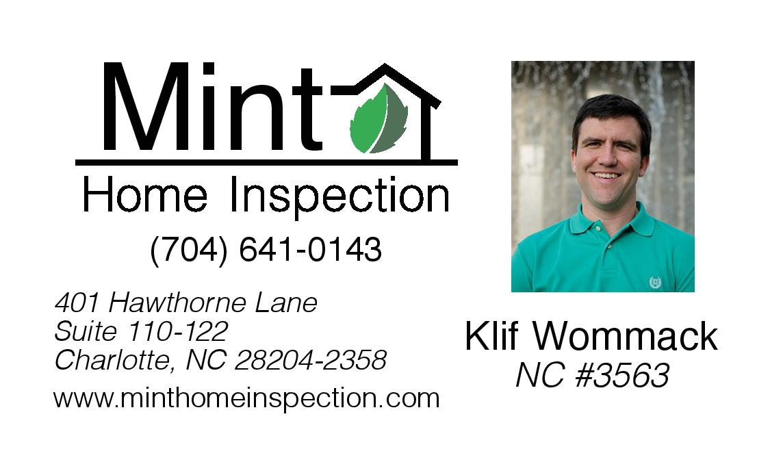 704) 641-0143 - Mint Home Inspection